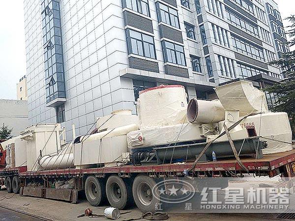石墨粉生产线设备发货