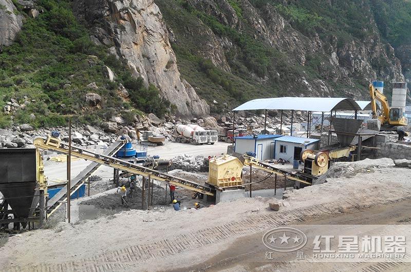山西客户石灰石生产线