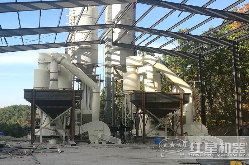 石料磨粉机生产现场图