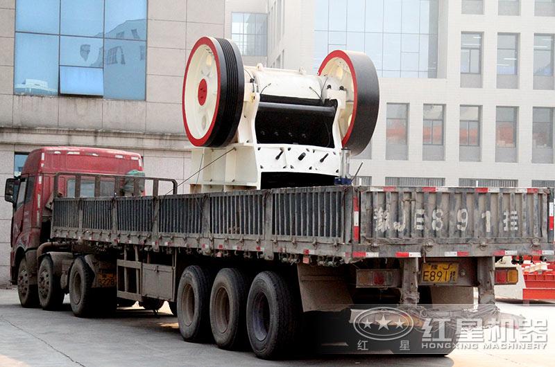 石子厂生产线设备装车发货