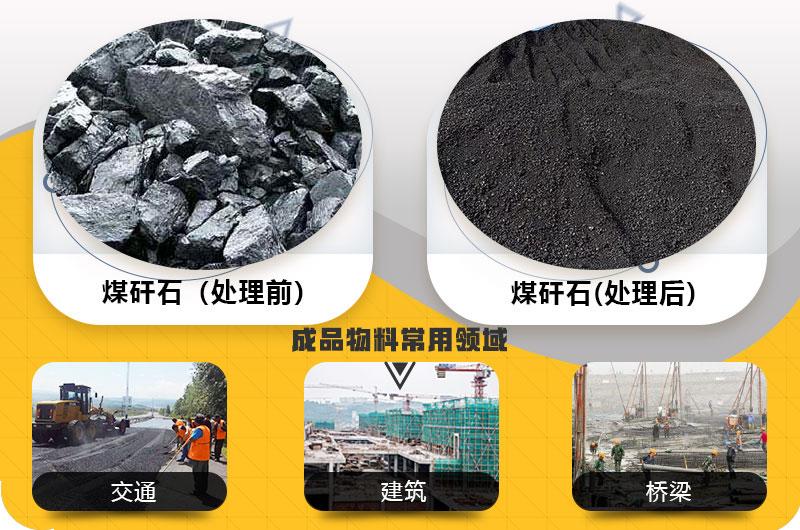 煤矸石处理后成品