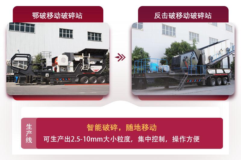 石灰石制砂设备配置移动式生产线