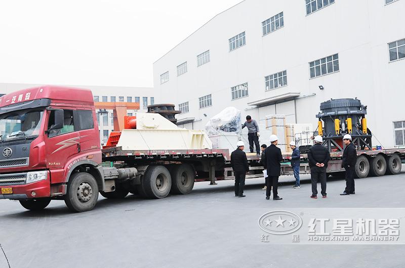 三天之内大型石子生产线设备全部发货