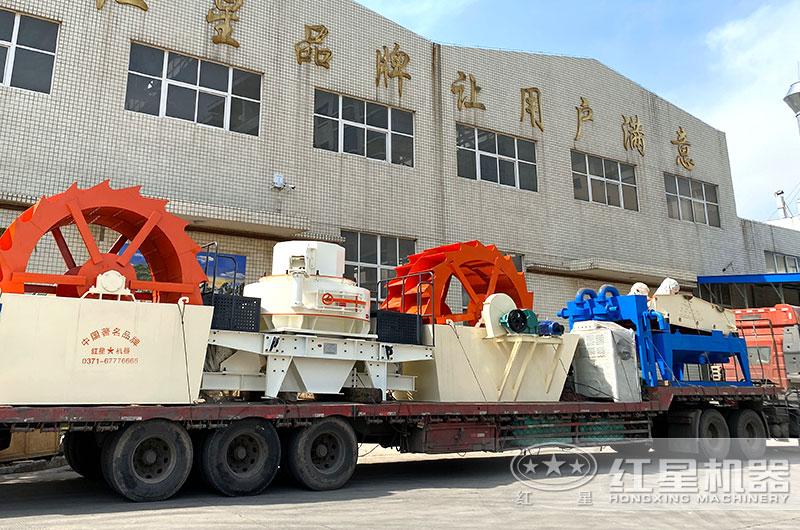 全套石粉加工设备发货