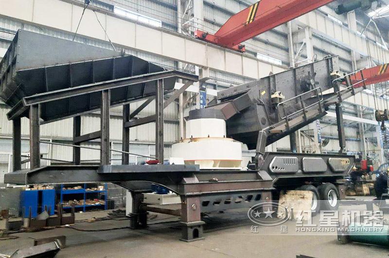 冲击式时产50吨移动制砂机器