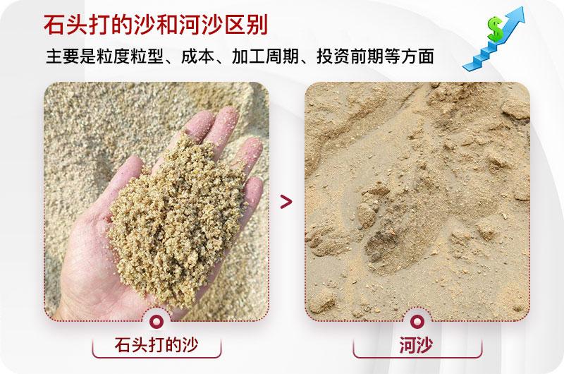石头打的沙和河沙区别