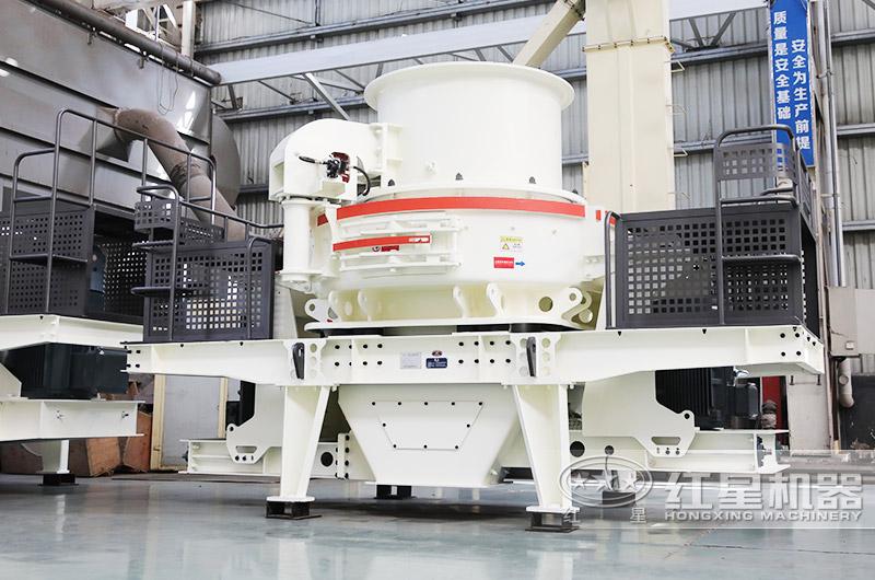 HVI冲击式制砂机用户风化石制砂粒型好,级配连续