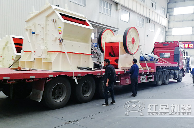 河南客户订购的青石破碎生产线设备发货