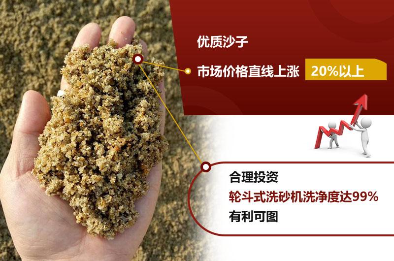 洗砂机设备能更好的提升沙子经济价值