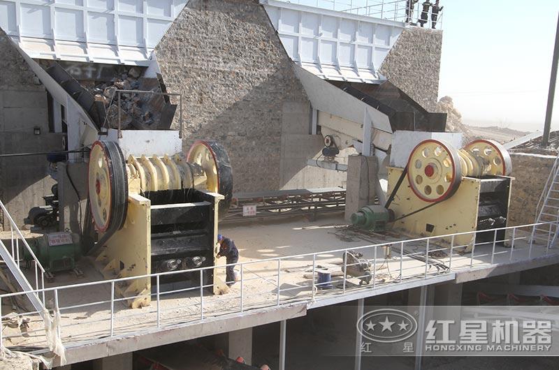 河北客户时产1000吨碎石生产线
