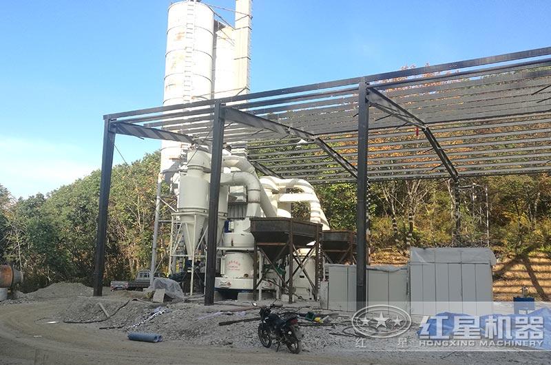 辽宁海城滑石磨粉生产线实拍图