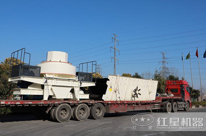 石灰石制砂生产线设备发货