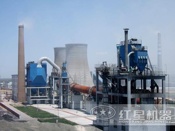 山东青岛日产600吨石灰回转窑生产线