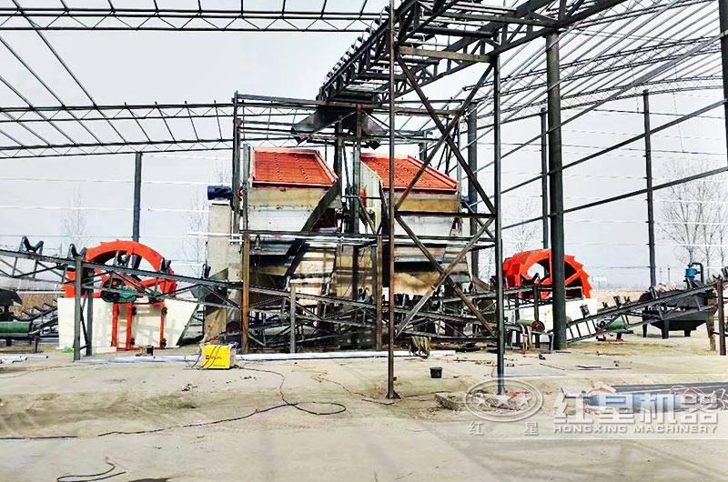 河南郑州客户洗沙场实拍图
