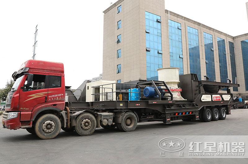 时产500吨全自动碎石机设备发货