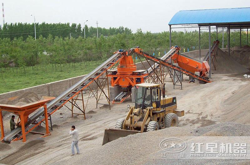 河南客户时产30立方鹅卵石制砂生产线