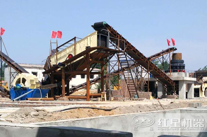 河南客户花岗岩破碎制砂生产线