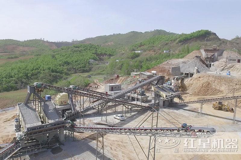 山东客户年产80万吨砂石生产线