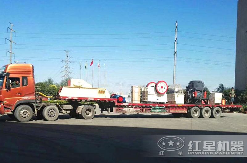 全套年产80万吨砂石生产线设备发货