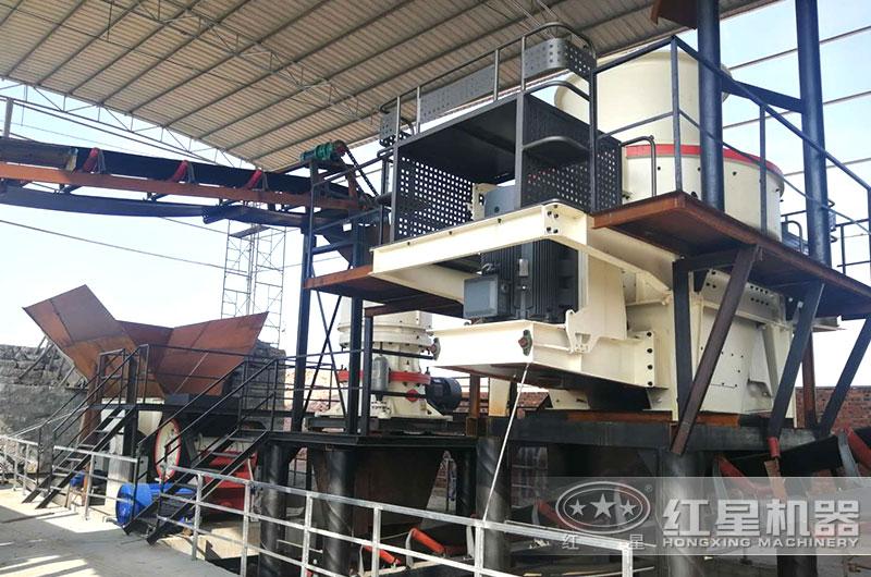 山东客户大型环保石子制砂生产线