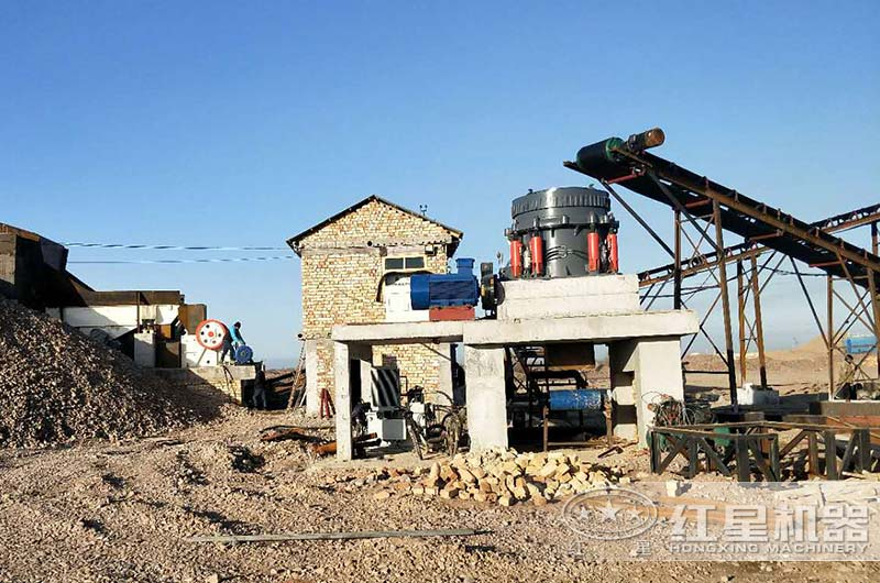 山东客户人造砂石生产线