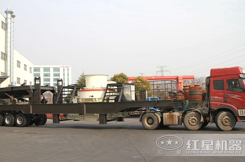 环保型一体式制砂生产线设备发货