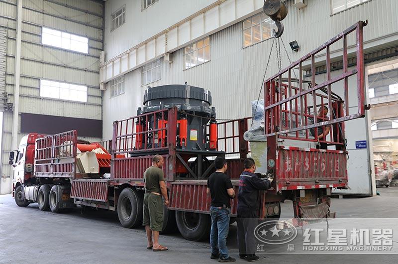时产600吨碎石生产线设备发货