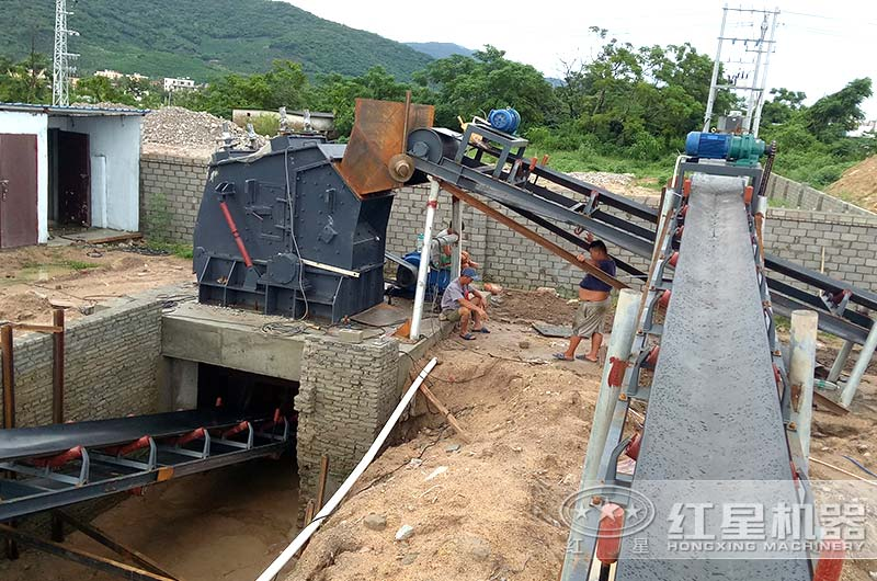 浙江客户小型石料生产线现场图