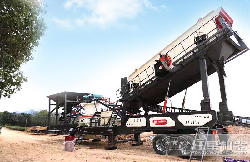 轮胎式建筑废料制砂机