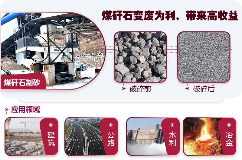 煤矸石制砂成品展示