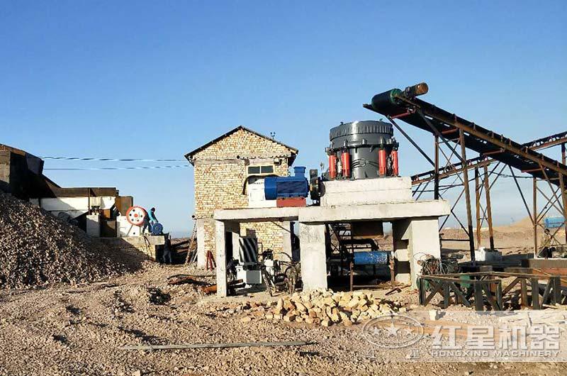 日产1000方砂石生产线作业现场图片