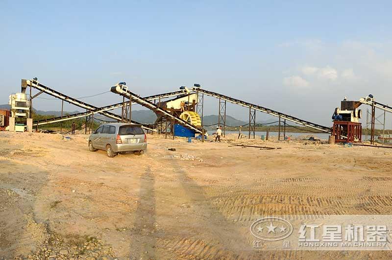 河南客户日产1000方砂石生产线