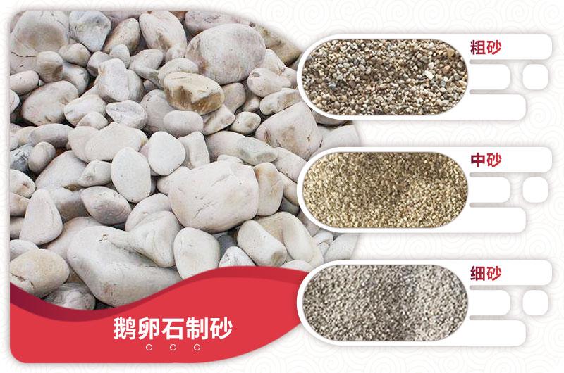 鹅卵石制砂成品