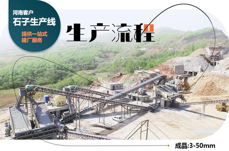 河南客户石子厂生产线