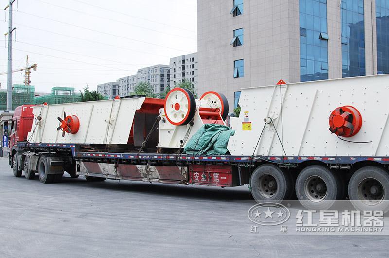 全套石子机生产线设备发货