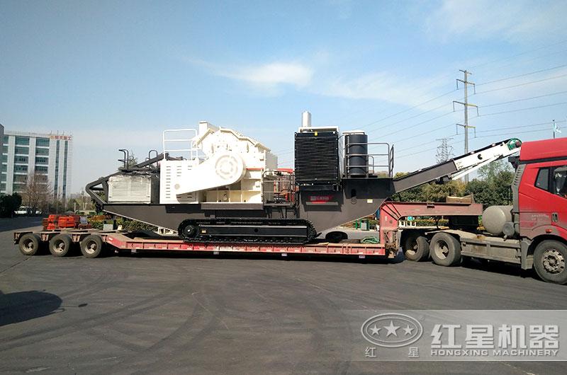 时产200吨移动制砂机直接发往客户现场