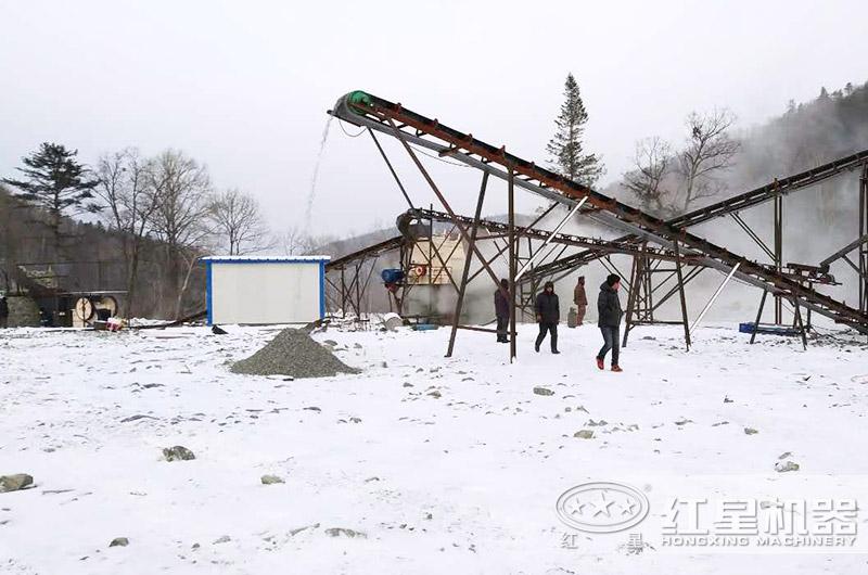 吉林客户煤矿破碎机生产线