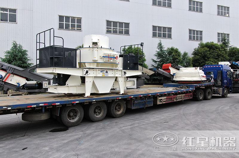 时产200吨制砂机设备发货