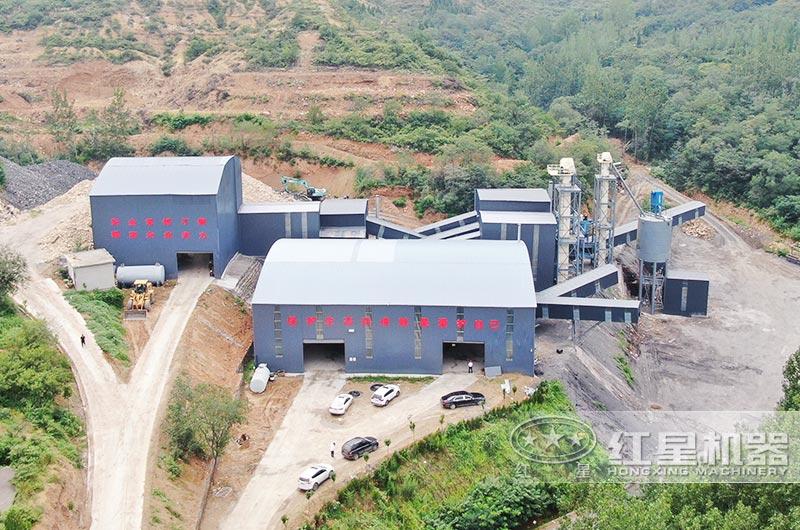 大型山石制砂机生产线全景图