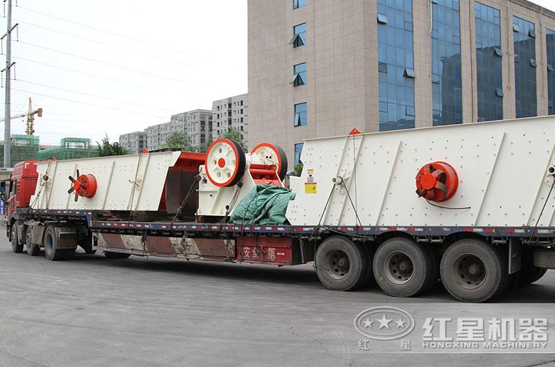 400吨碎石机设备发货图