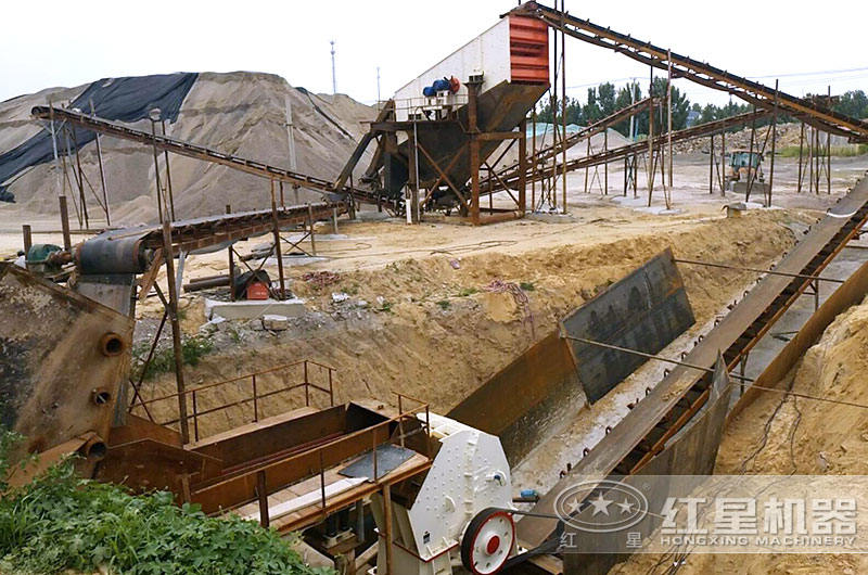固定式建筑垃圾处理生产线现场