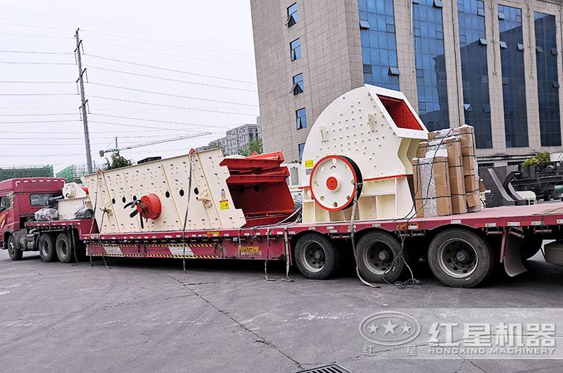 时产500吨锤式破碎机设备发货