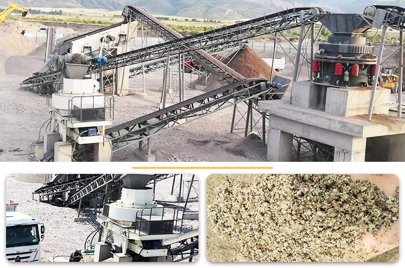 制砂设备生产现场实拍图