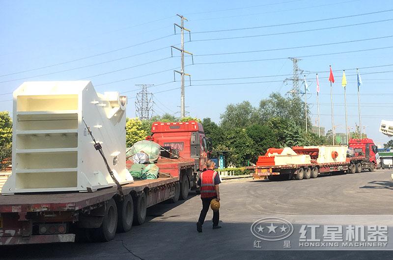 时产100-300吨石子破碎机发货图