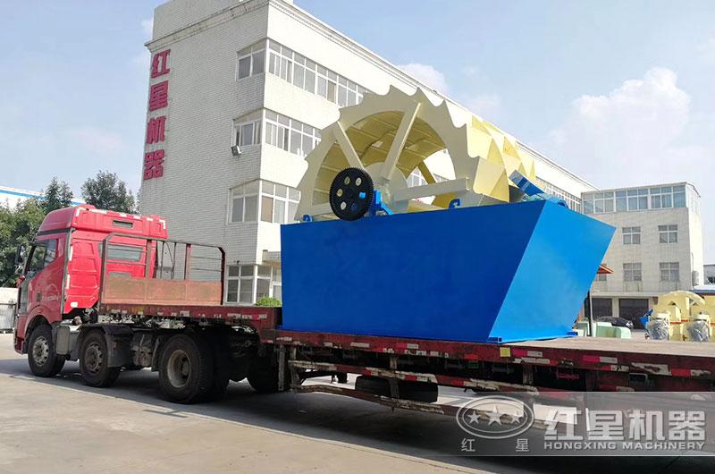 每小时产50吨轮式洗砂机设备发货