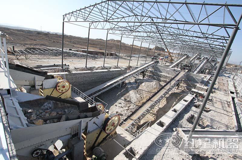 河北客户大块石破碎生产线