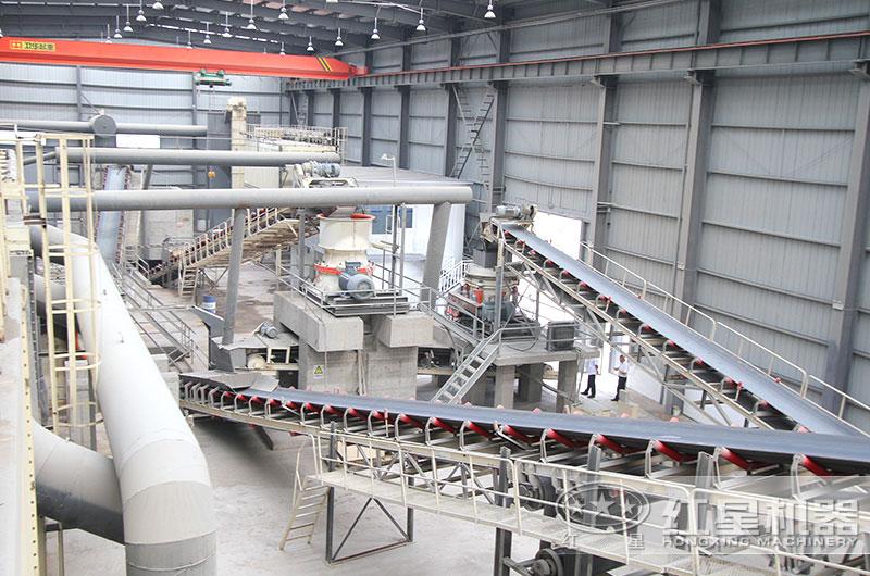 日产5000吨碎石机工作现场图片