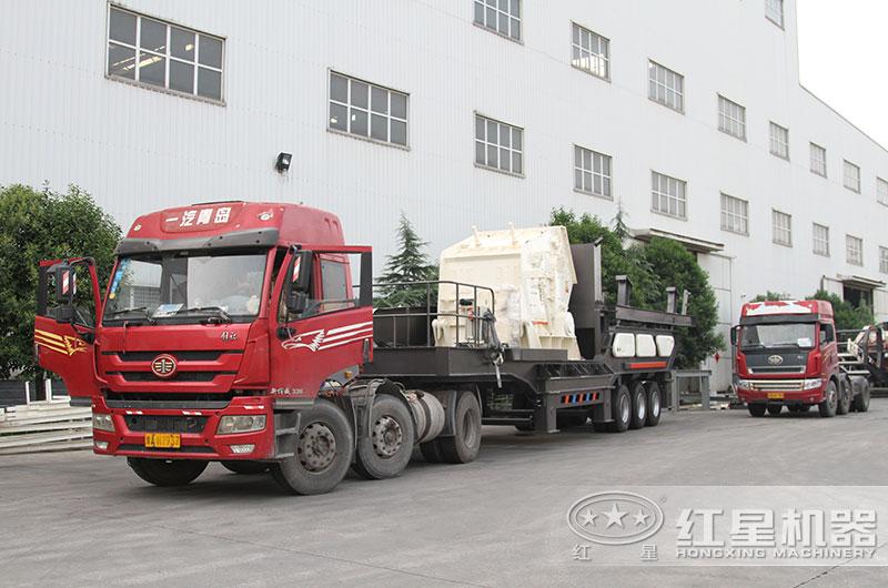 移动式煤炭破碎机设备发货中