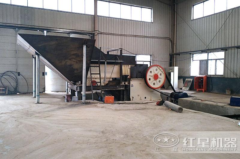 山东客户时产100吨制沙场图片
