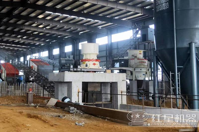 碎石制砂机生产线实拍图